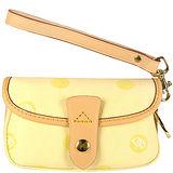 DOONEY & BOURKE 黃色DB LOGO織紋手腕包【中型】DBb011
