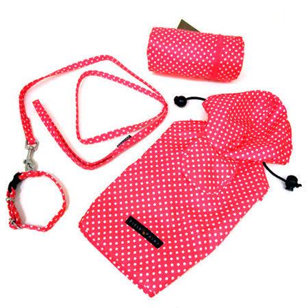 *Docky嚴選*日本F&P全功能連帽寵物雨衣(四件組)-M尺寸