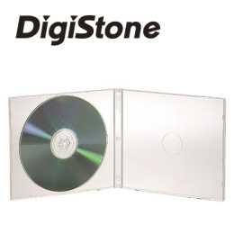 DigiStone 單片超薄軟殼收納盒白色透明 50PCS