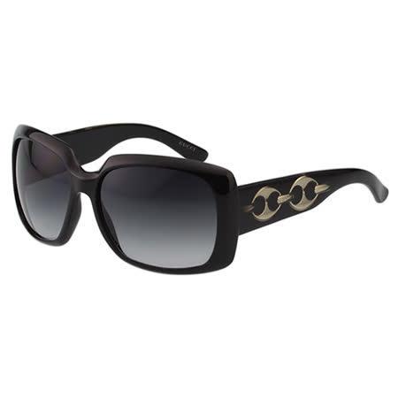 GUCCI 時尚扣環太陽眼鏡 (黑色)