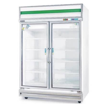 1040公升雙門玻璃型冷凍櫃(冰櫃、冷藏櫃、冰淇淋櫃、冰箱)型號TC-400