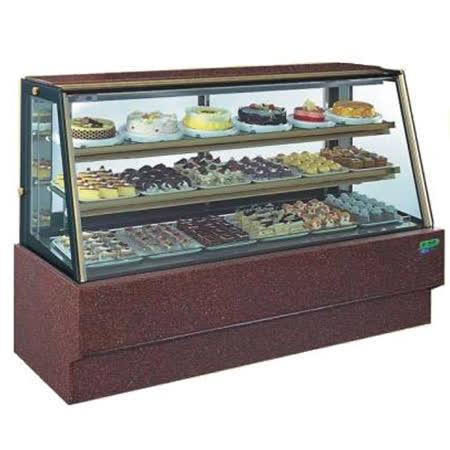 斜玻大理石型 6尺西點蛋糕櫃(冰櫃、冷藏櫃、冰箱)型號C-106HS