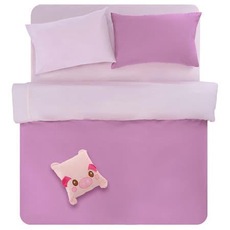 【原色布屋-炫影】單人三件式被套床包組-媚惑紫