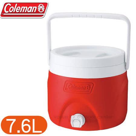 【美國 Coleman】7.6L可堆疊置物型飲料冰桶 /CM-1362 紅