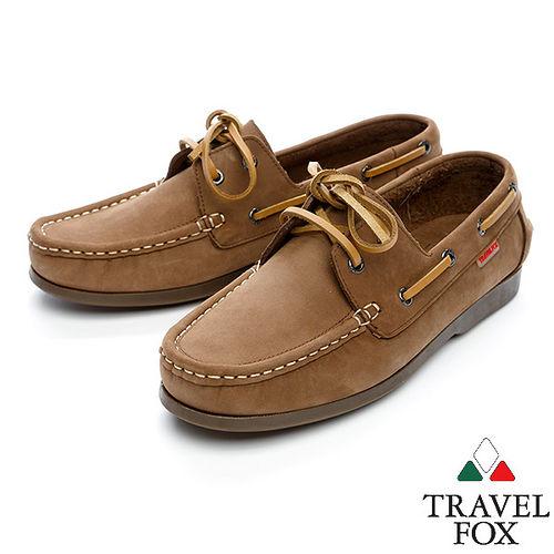 Travel Fox STYLE~麂皮帆船鞋914601^(咖啡~76^)
