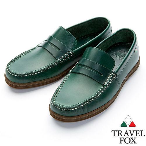 Travel Fox STYLE~EZ帆船鞋914607^(綠~20^)