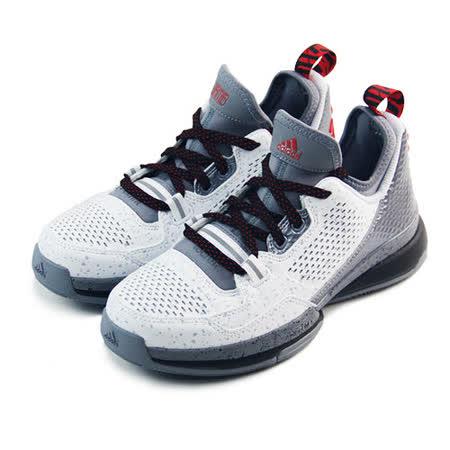 (大童)ADIDAS D LILLARD J 籃球鞋 白/灰/紅-D69773