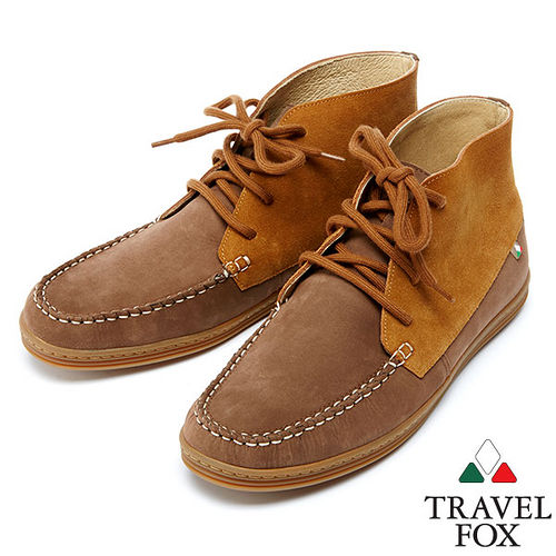 Travel Fox 北魁麂皮高統靴914611^(咖啡~76^)