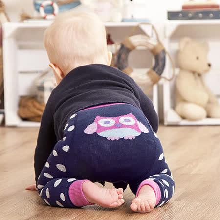 英國 JoJo Maman BeBe 圖案嬰幼兒內搭褲/保暖襪_海軍藍貓頭鷹(JJP001)