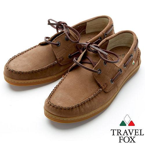 Travel Fox STYLE~麂皮帆船鞋914614^(深咖啡~76^)