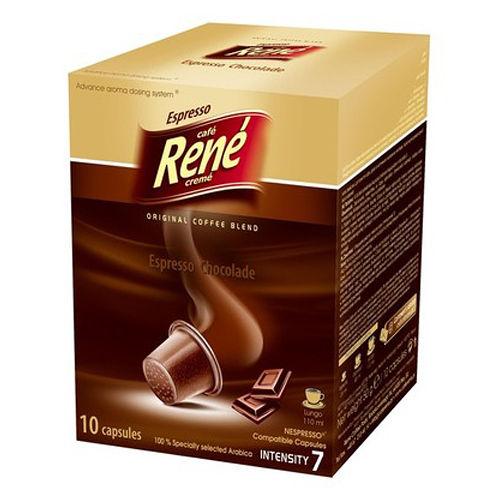 RENE 芮妮巧克力風味咖啡膠囊^(10入裝^)