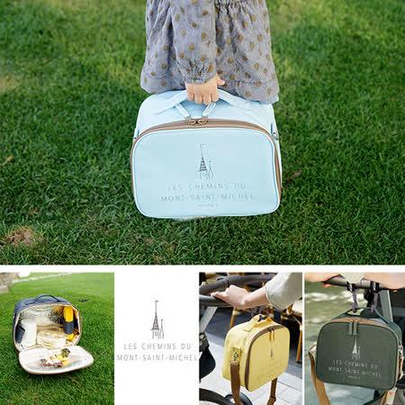 【韓國創意品牌 invite.L】新款時尚高質感拉鍊設計 保冷袋 保溫袋 保鮮袋 餐盒袋 便當袋 手提包 肩揹包 繽紛7色可挑選