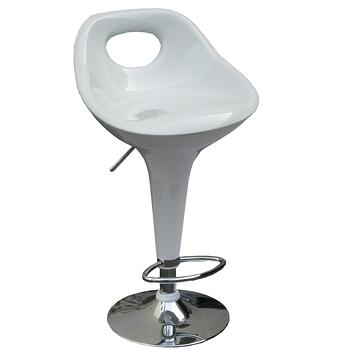 【環球】高級鍍鉻金屬圓盤腳座-吧台椅/高腳椅/吧檯椅(三色可選)-4入/組
