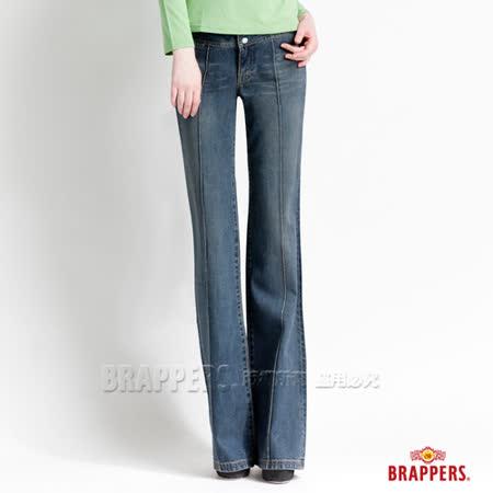 【BRAPPERS】女款 女休閒系列-女用大喇叭褲-藍