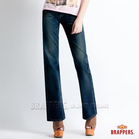 【BRAPPERS】女款 Lady Vintage 系列-女用小喇叭褲-深藍