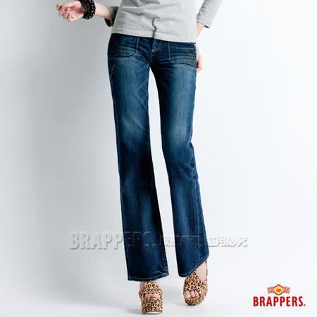 【BRAPPERS】女款 Lady Vintage 系列-女用小喇叭褲-藍