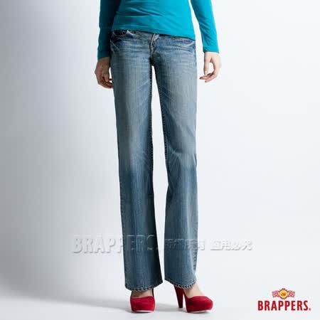【BRAPPERS】女款 女個性系列-女用大喇叭褲-淡藍