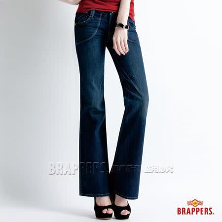 【BRAPPERS】女款 Lady Vintage 系列-女用大喇叭褲-藍
