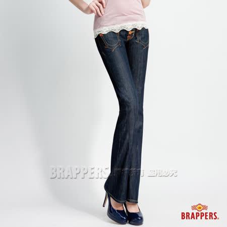 【BRAPPERS】女款 女垮褲系列-女用小喇叭褲-水洗藍