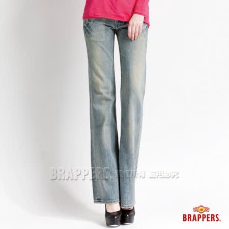 【BRAPPERS】女款 女垮褲系列-女用大喇叭褲-復古藍