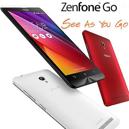 ASUS 華碩 ZenFone Go ZC500TG 2G/16G 5吋 3G版手機平板(白/黑色)-【送ASUS原廠側掀新竹 愛 買 地址皮套+螢幕保護貼】