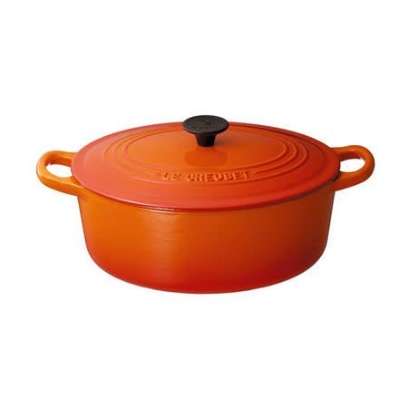 LE CREUSET 琺瑯鑄鐵橢圓鍋 23cm (火焰橘)