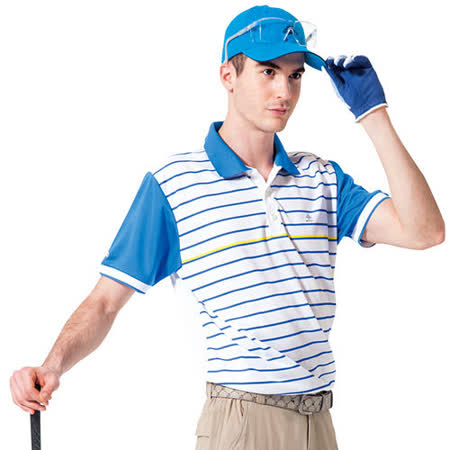 【SPAR】吸濕排汗男版短袖POLO衫(SP48376)青藍色