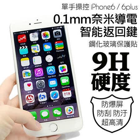 iPhone 超薄智能返回鍵/快捷鍵 鋼化玻璃保護貼