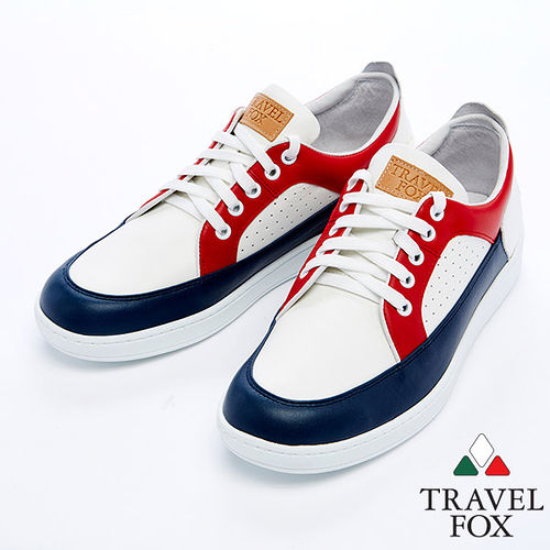 Travel Fox 狐躍 休閒鞋915109^(紅藍~21^)