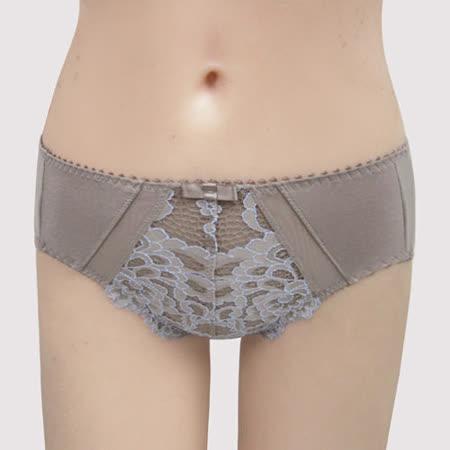 【曼黛瑪璉】雙弧絲蛋白  中腰三角棉褲(粉彩灰)