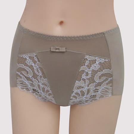 【曼黛瑪璉】雙弧絲蛋白  高腰三角修飾褲(粉彩灰)