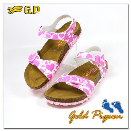 【GP】兒童柏肯鞋31-35尺碼-B551-44   亮粉色 共二色