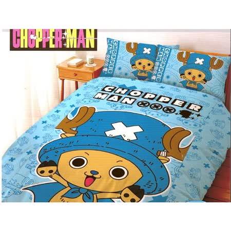 LUST寢具 【航海王/喬巴超人-藍】5X6.2-/床包/枕套、日本卡通合法授權、台灣製