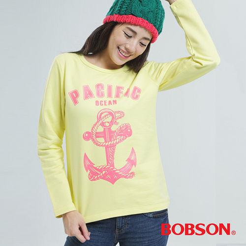 BOBSON 印圖上衣 ^(黃色33128~30^)