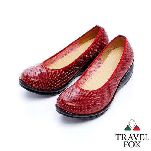 女Travel Fox 2網點舒適輕量楔型鞋915317^(紅~04^)