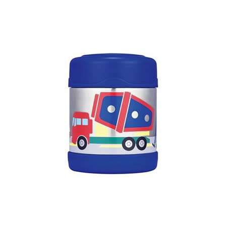 THERMOS膳魔師 不鏽鋼真空食物罐300ml 卡通系列(F3001) 深藍工程車