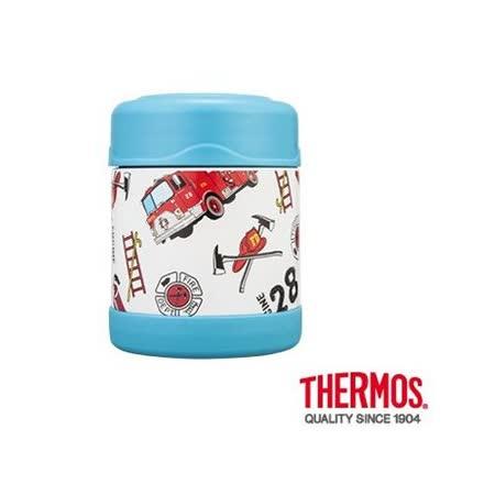 THERMOS膳魔師 不鏽鋼真空食物罐300ml 卡通系列(F3001) 淺藍消防車