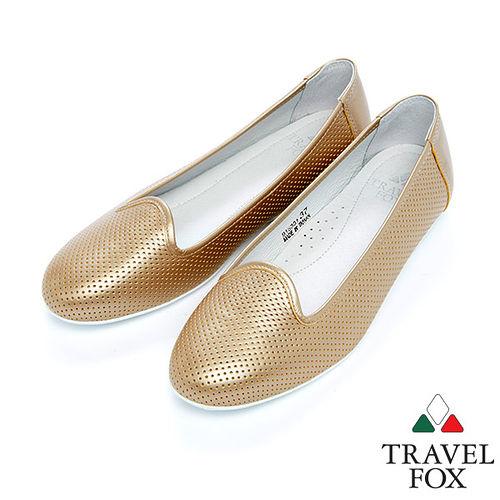 女Travel Fox 隨性休閒平底鞋915331^(金~00^)