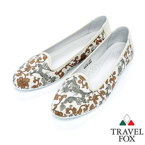 女Travel Fox 隨性休閒平底鞋915331^(米~82^)