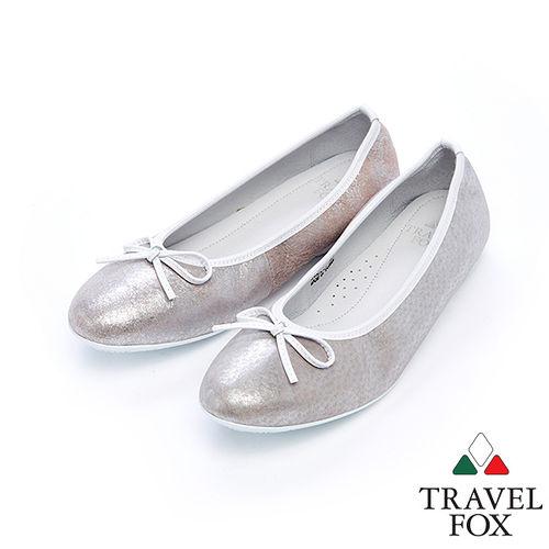 女Travel Fox 蝴蝶結柔軟娃娃鞋915332^(粉紅~69^)