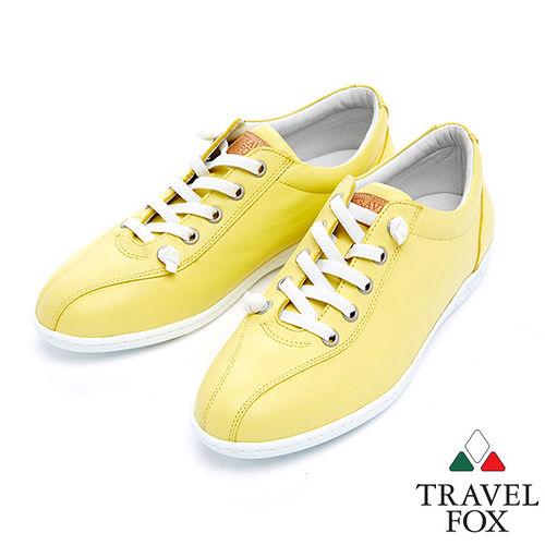 女Travel Fox 舒適健走鞋915381^(黃~11^)