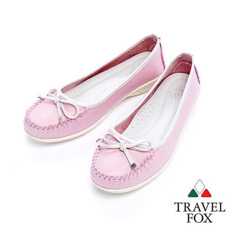 女Travel Fox 1柔軟舒適娃娃鞋915402(粉紅-69)