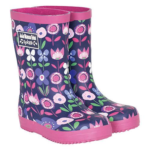 英國 JoJo Maman BeBe 嬰幼兒童雨鞋_粉紫花園(JJWG1-002)