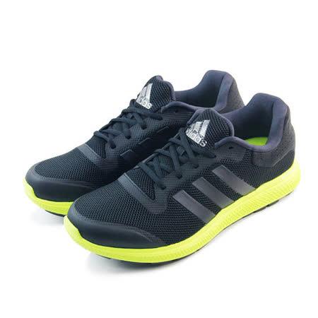 (男)ADIDAS ENERGY BOUNCE M 慢跑鞋 黑/螢光黃-B33956