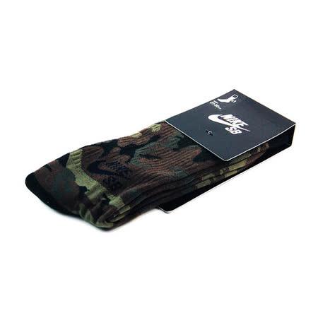 NIKE SB CAMO CREW 中筒襪 軍綠/褐-SX4934200