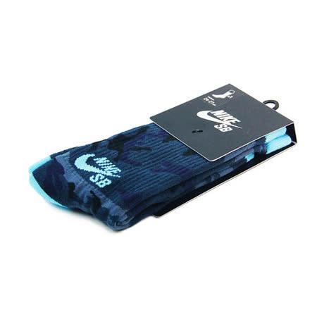 NIKE SB CAMO CREW 中筒襪 海軍藍/淺藍-SX4934433