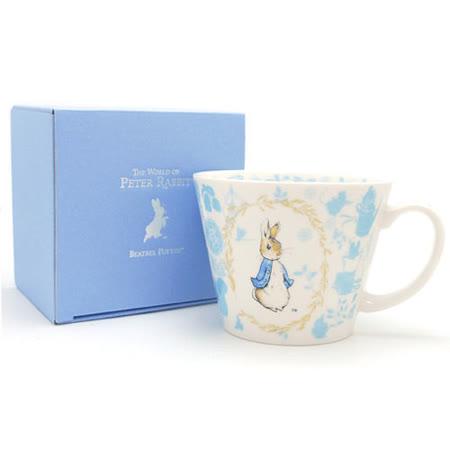 【クロワッサン科羅沙】Peter Rabbit~ 經典比得兔 PI 大馬克杯(花環藍色)