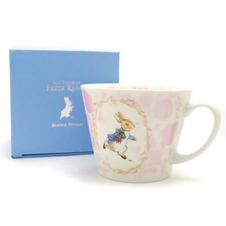 【クロワッサン科羅沙】Peter Rabbit~ 經典比得兔 PI 大馬克杯(花環粉色)