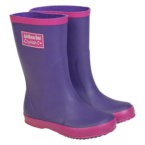 英國 JoJo Maman BeBe 嬰幼兒童雨鞋_紫色^(JJWG1~010^)