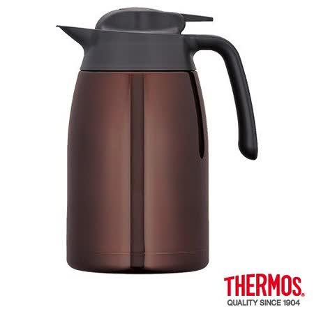 THERMOS膳魔師 不鏽鋼真空保溫壼1.5L 咖啡色(THV-1500)